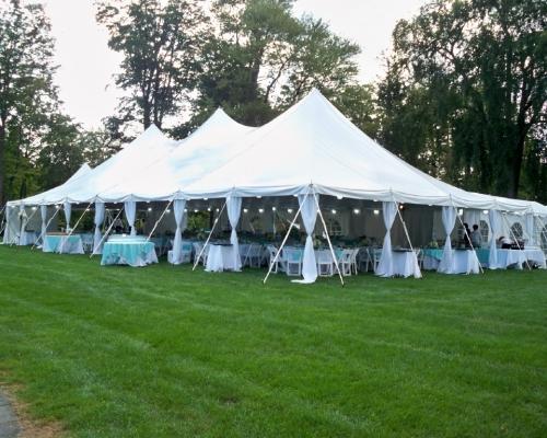 40x SE Pole Tent on lawn