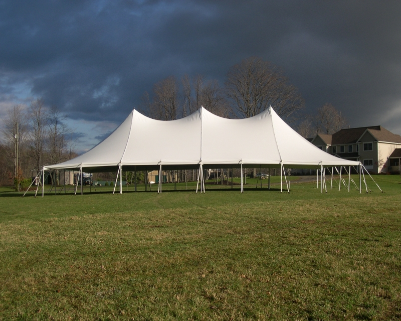 50x SE Pole Tent in backyard