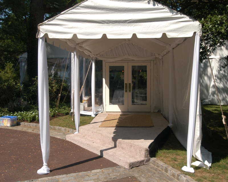 marquee tent entrance