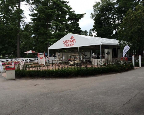 Saratoga race course beer tent