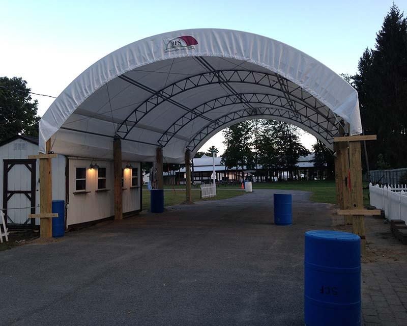 Fabric Farm structure canopy