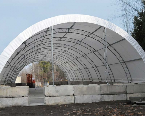 fabric structure to house equipment