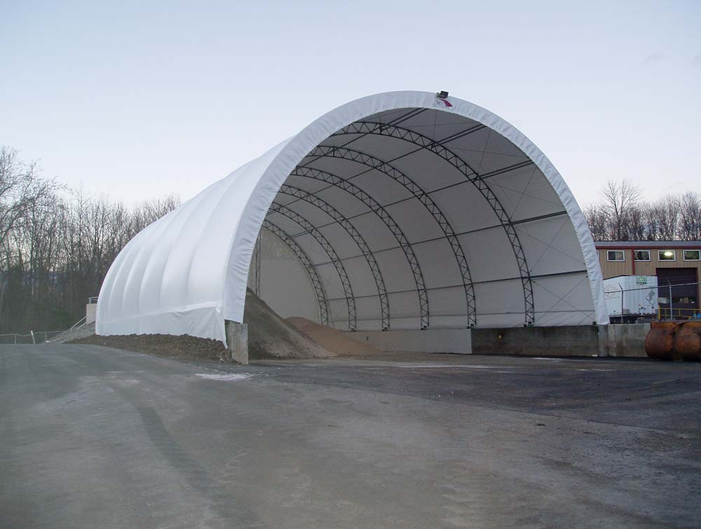 Fabric Farm structure covering salt and sand