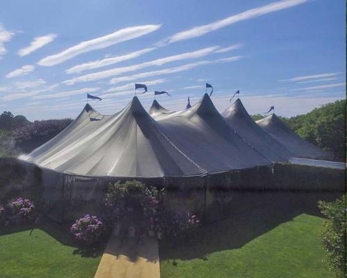Black wedding tent