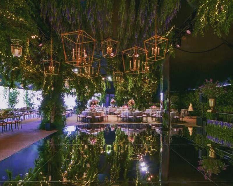 dance floor inside wedding tent