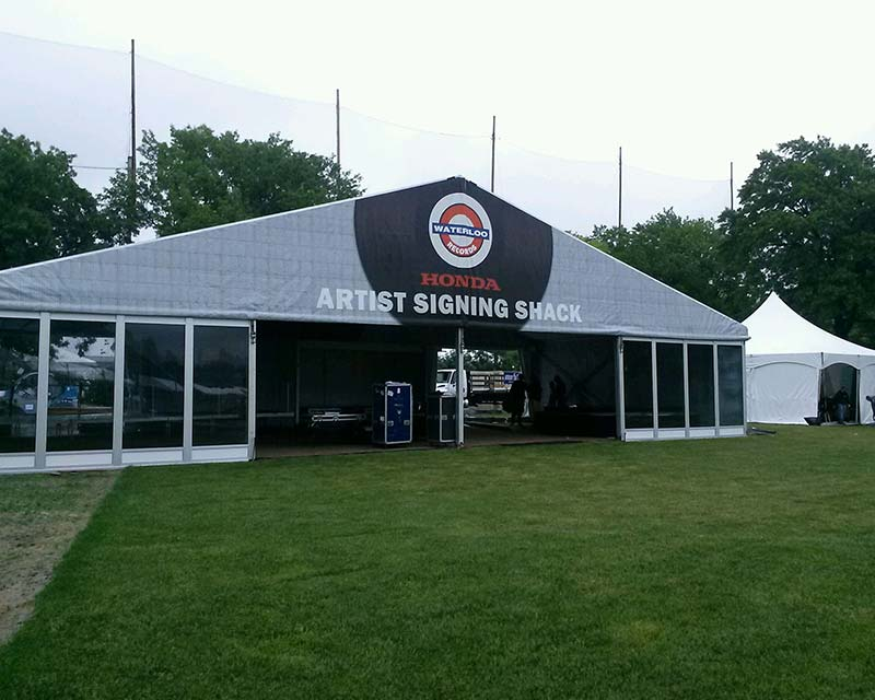 large hospitality tent