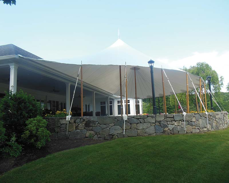 Tent over patio
