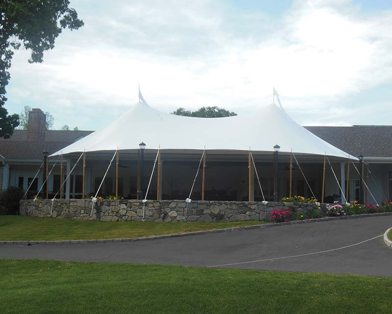 Large Tent over patio