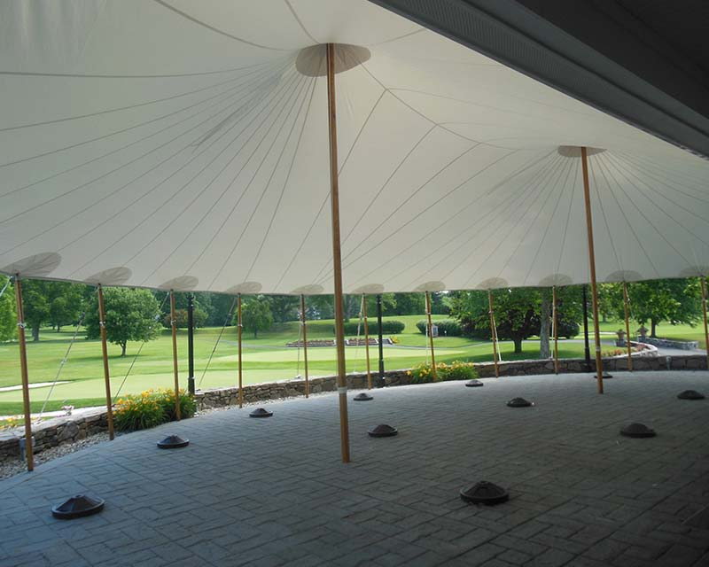 Inside of Tent over patio