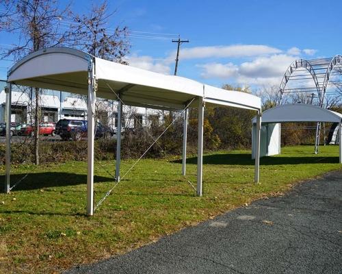 halfmoon marquee entrance tent