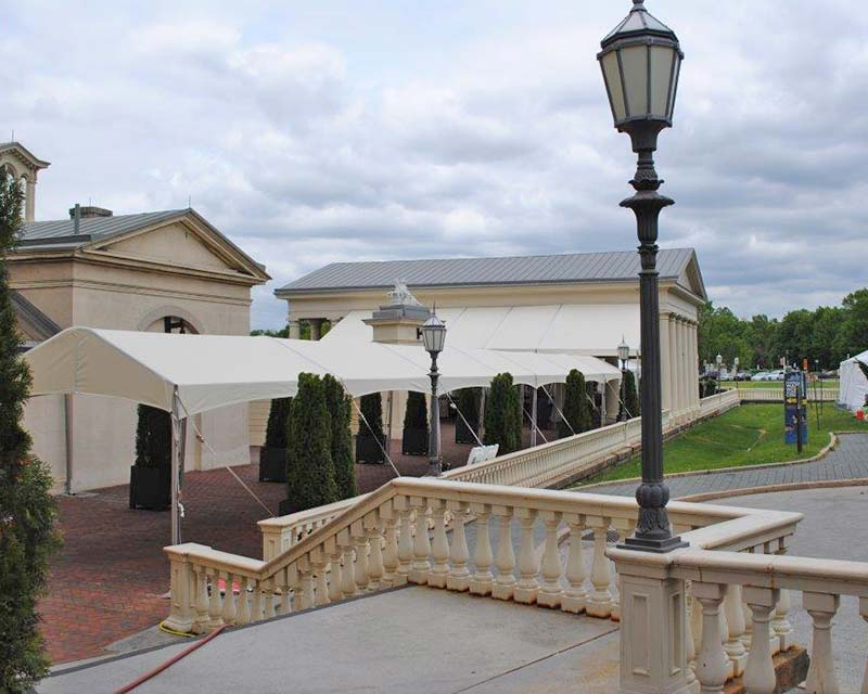 Long entrance tent
