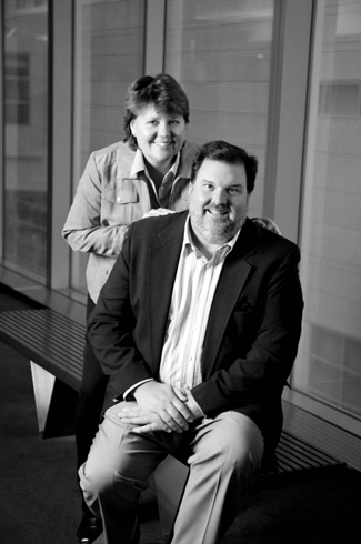 portrait of Fred & Linda Tracy