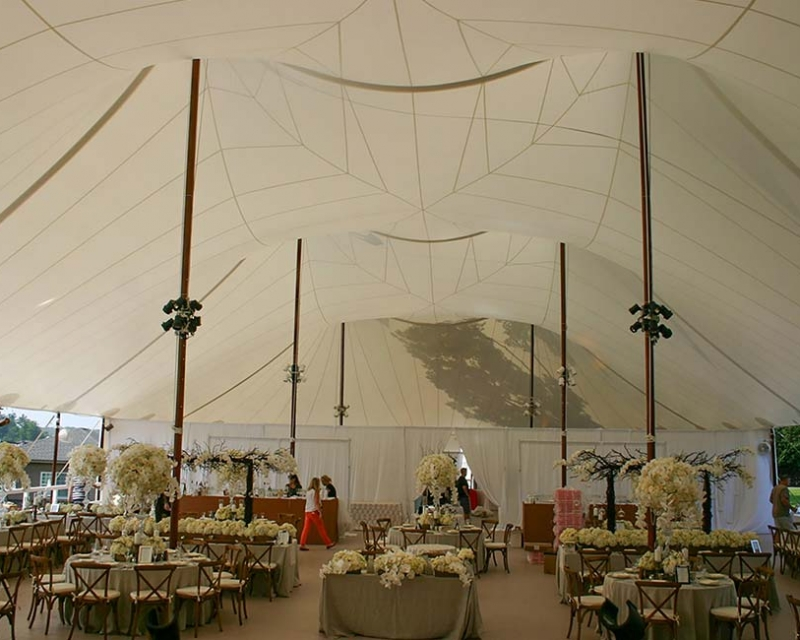 wedding tent ready for wedding guests