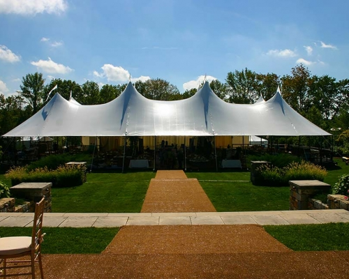entrance to wedding tent