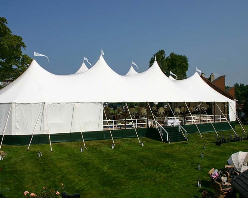 tent on platform