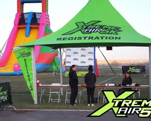 Green registration tent