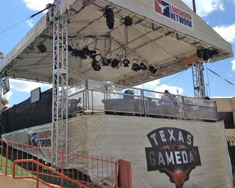 Texas gameday tent