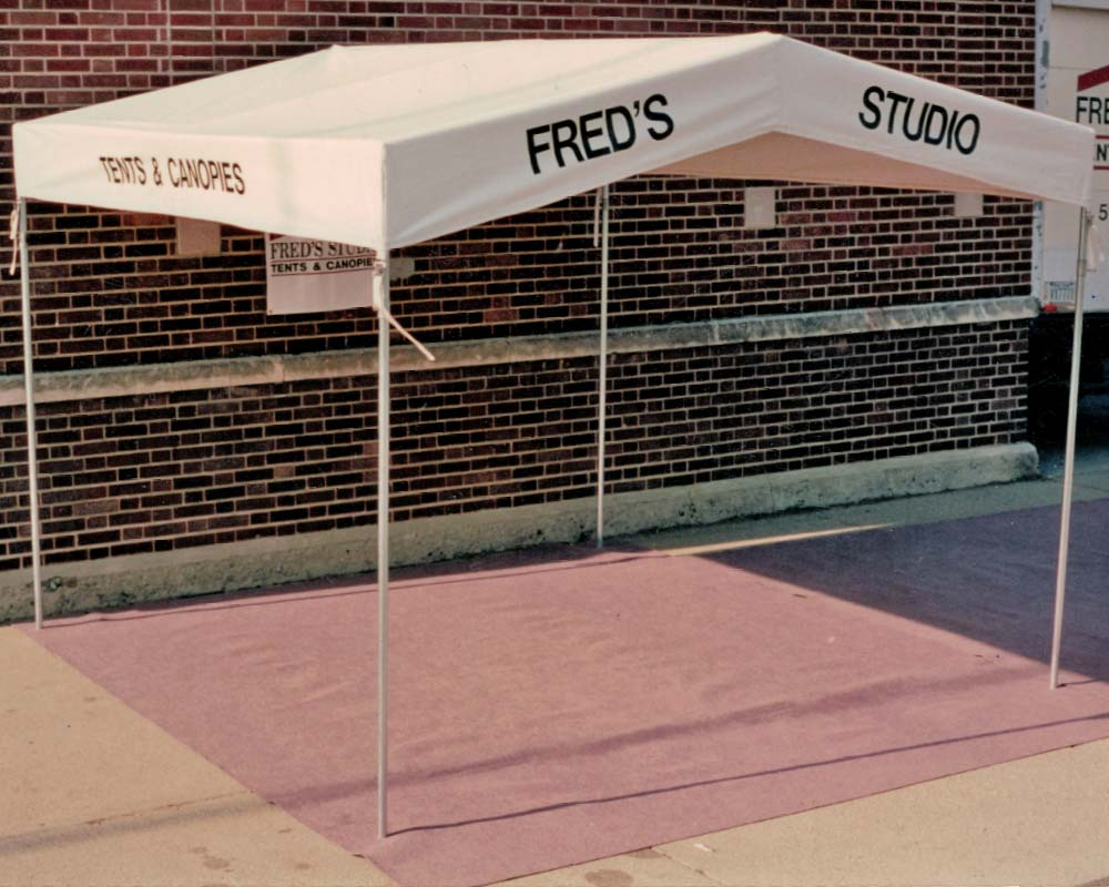 Frame Tent with Fred's Studio graphic