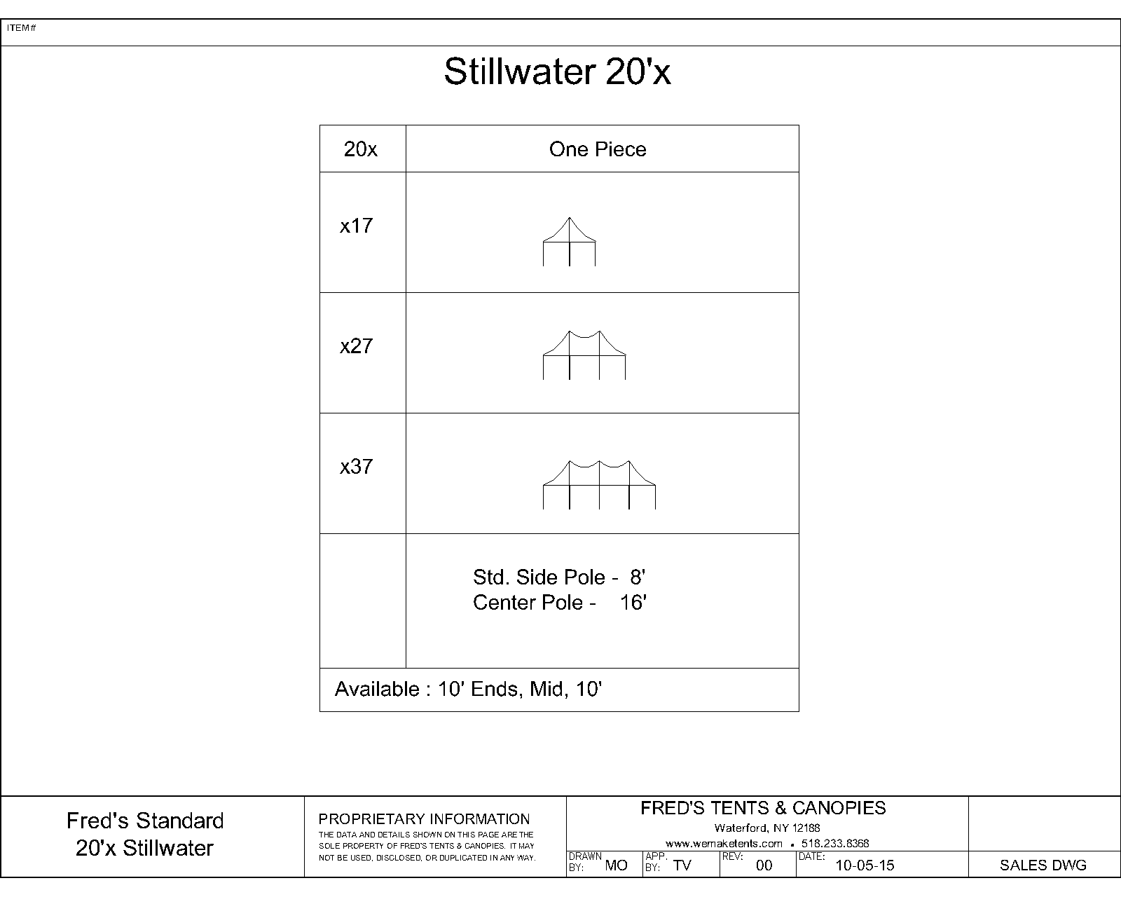 Stillwater Tent Size Diagram