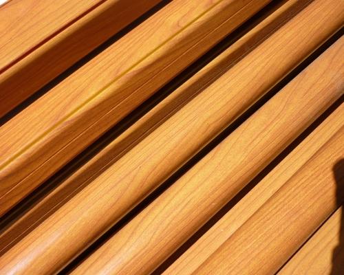 Woodgrain finished aluminum