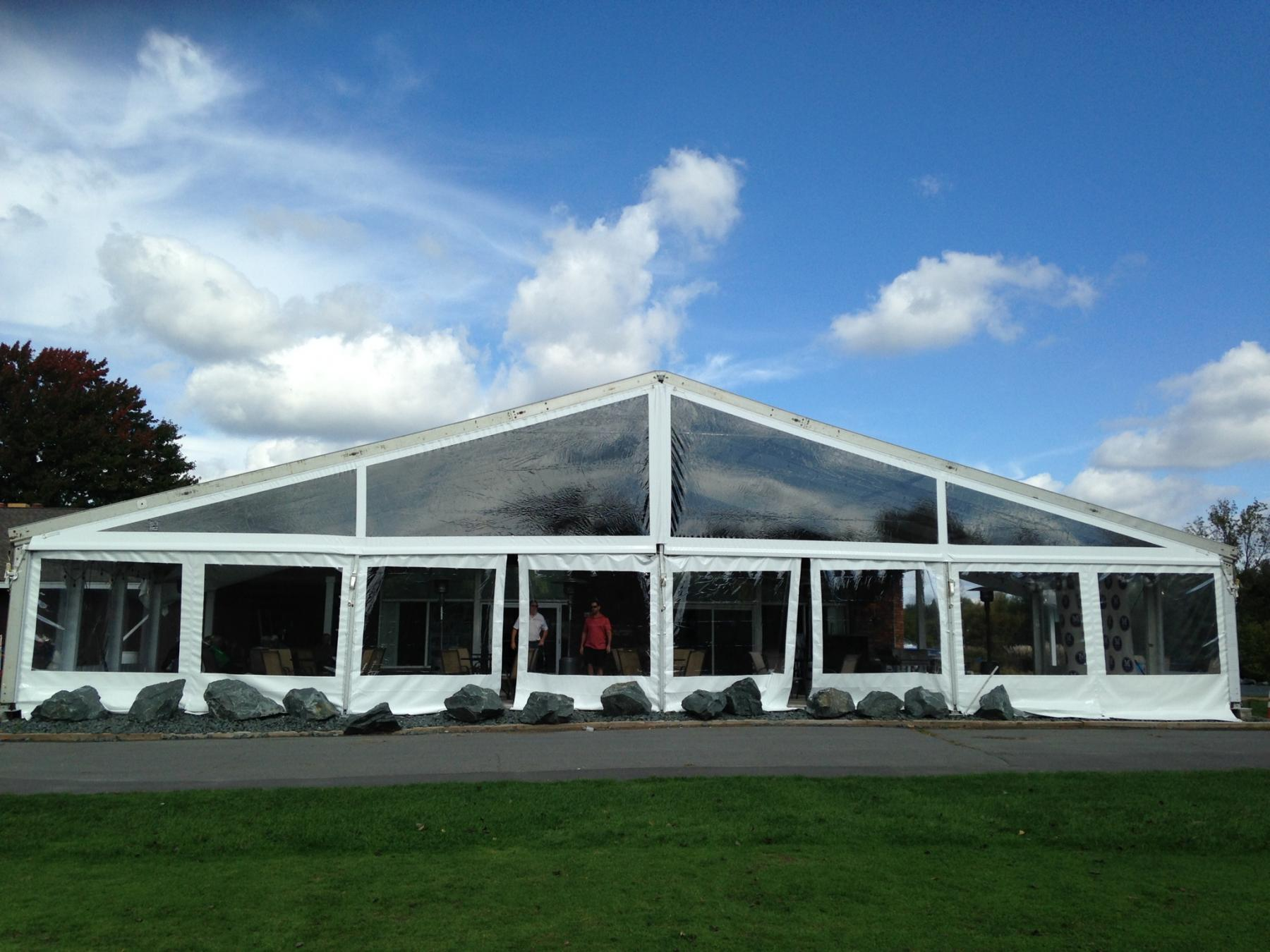 Commercial Frame Tent with sidewalls