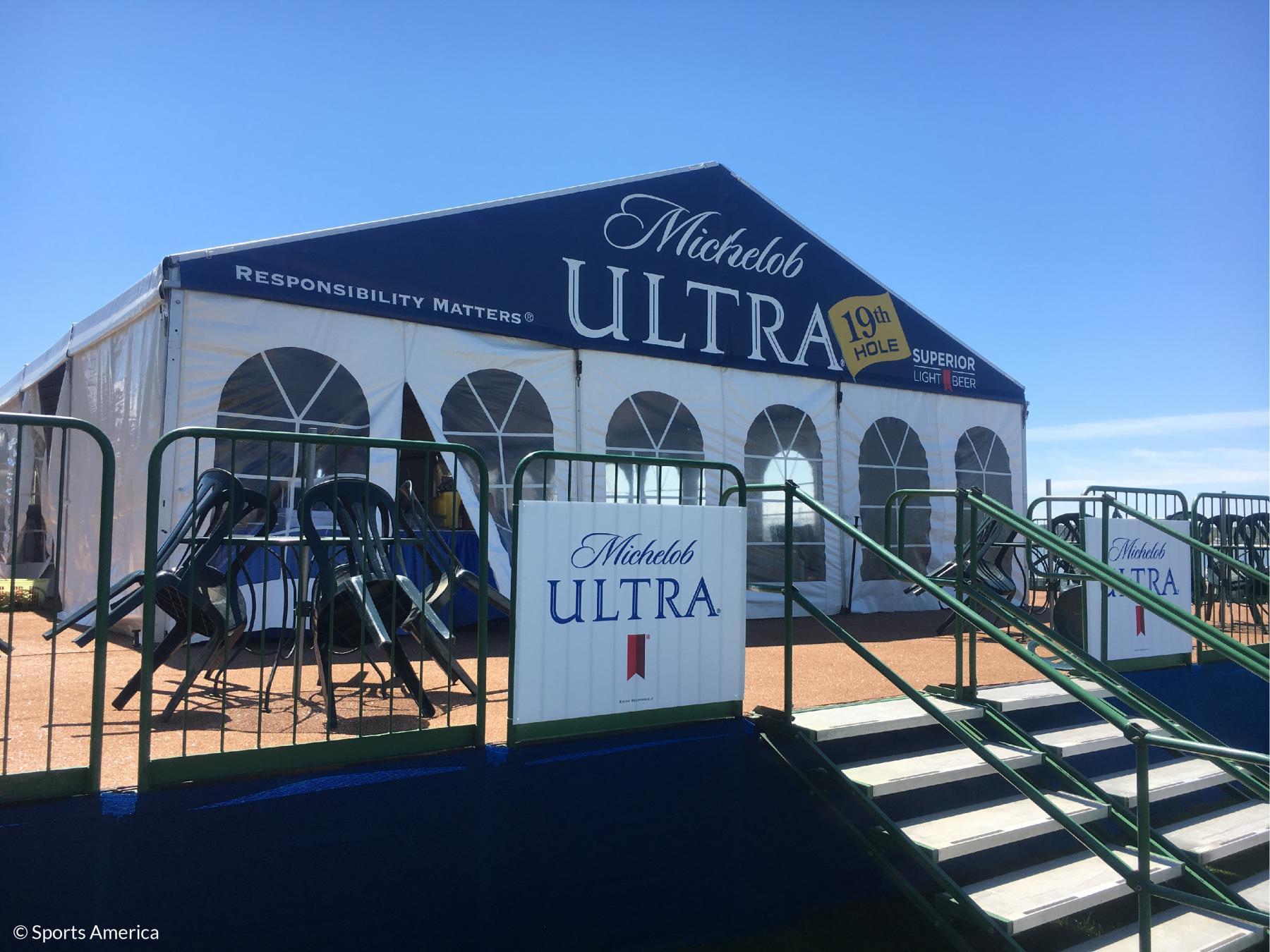 Custom printed Michelob Ultra Tent