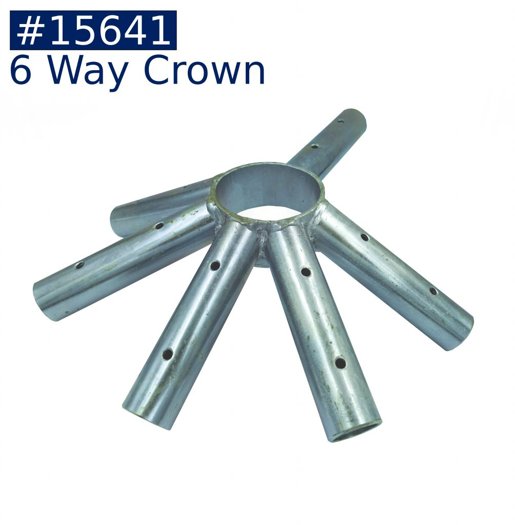 tent frame 6 way crown fitting