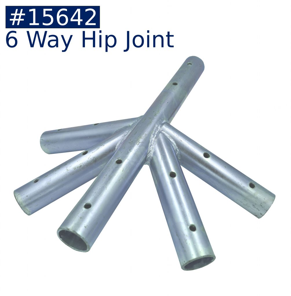 tent frame 6 way hip joint fitting