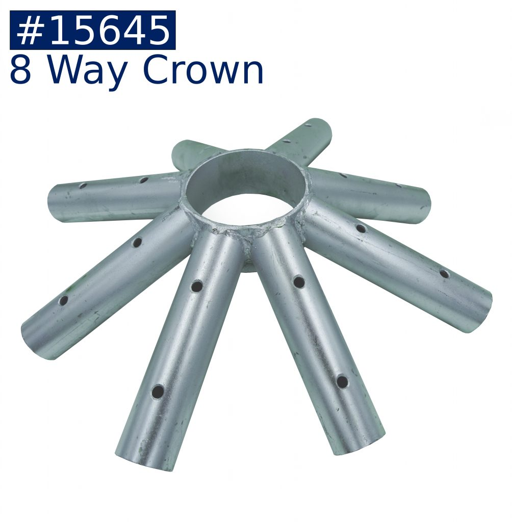 tent frame 8 way crown fitting