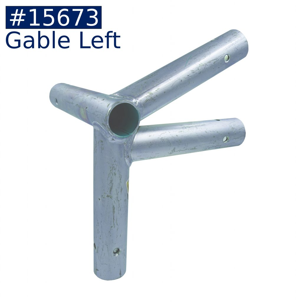 tent frame gable left fitting