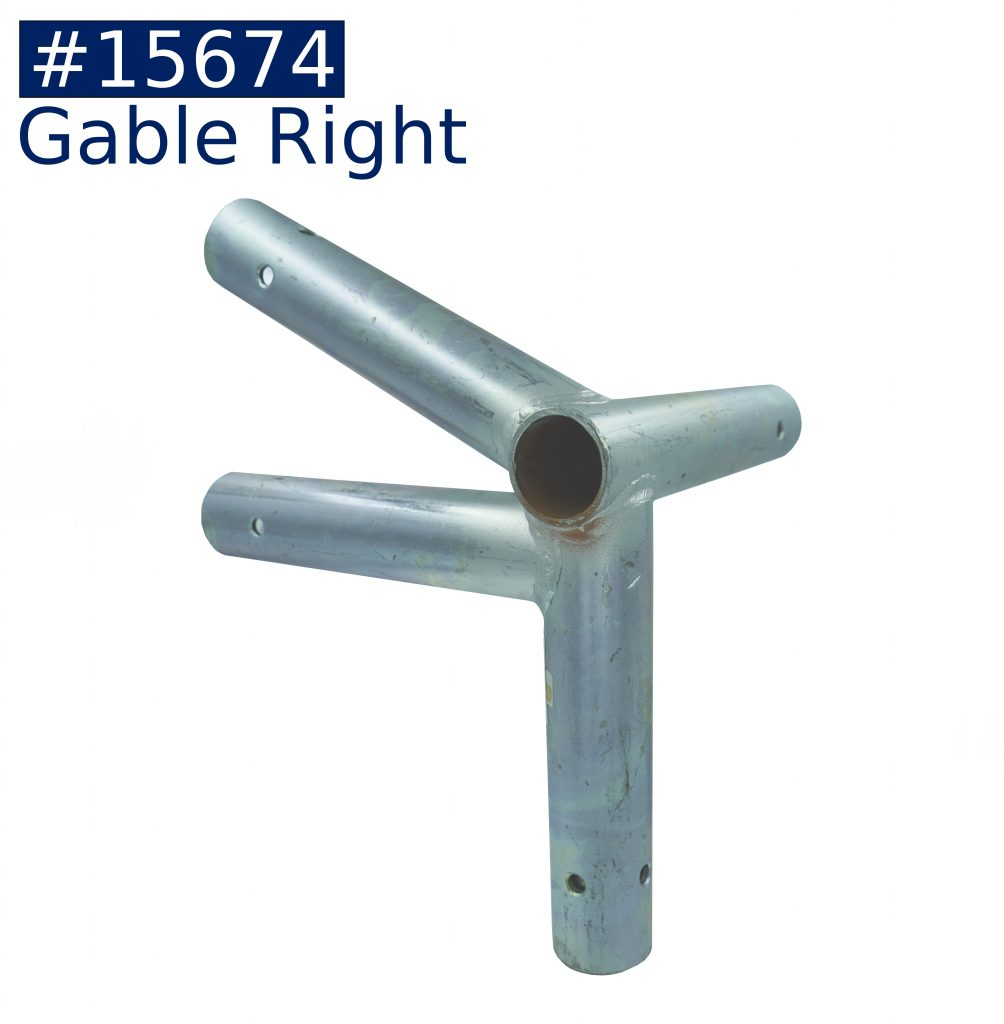 tent frame gable right fitting