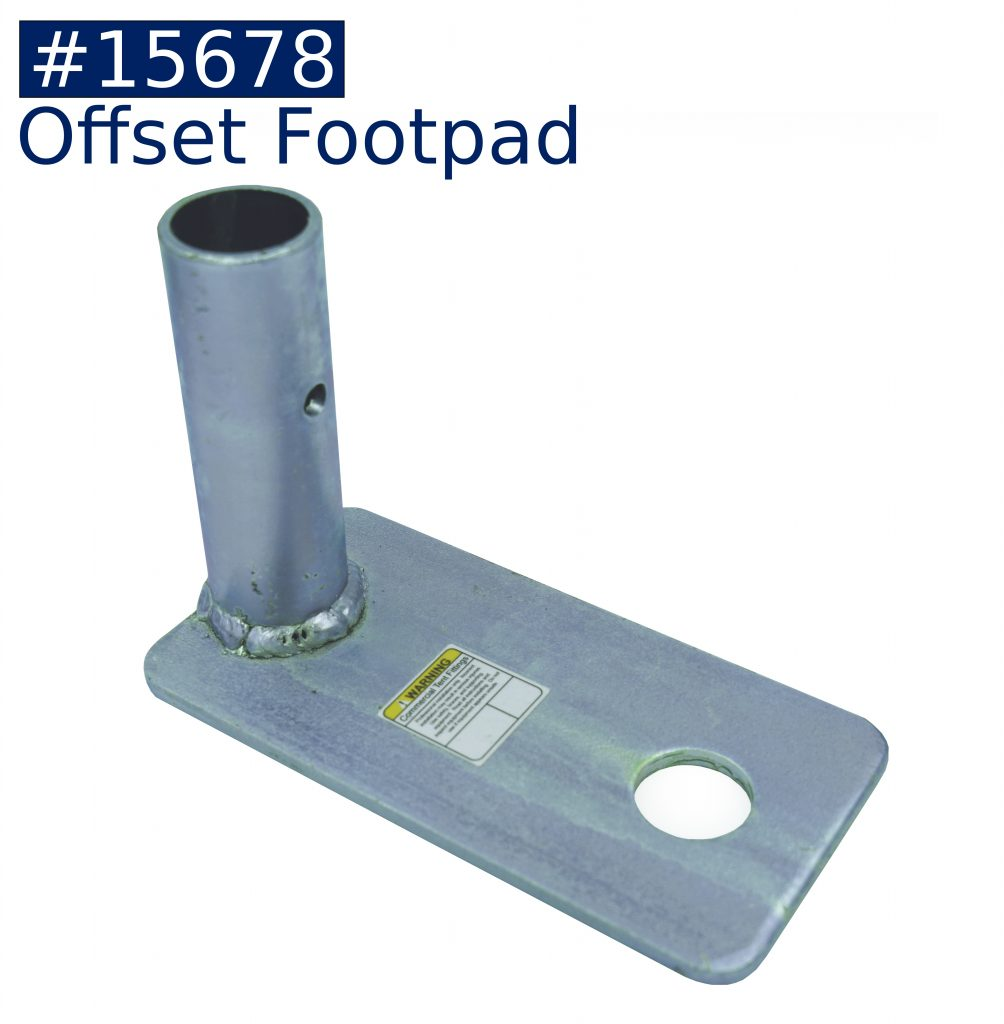 tent frame offset foot ad fitting