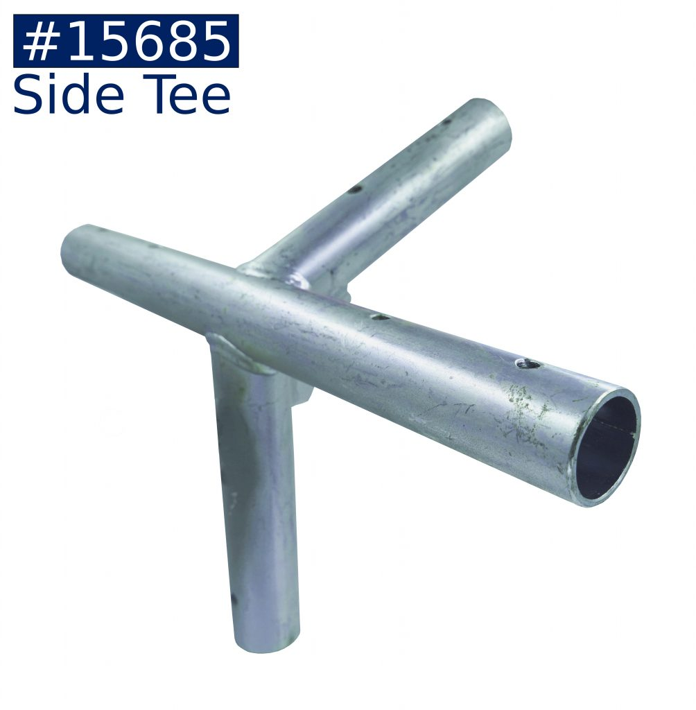 tent frame side tee fitting