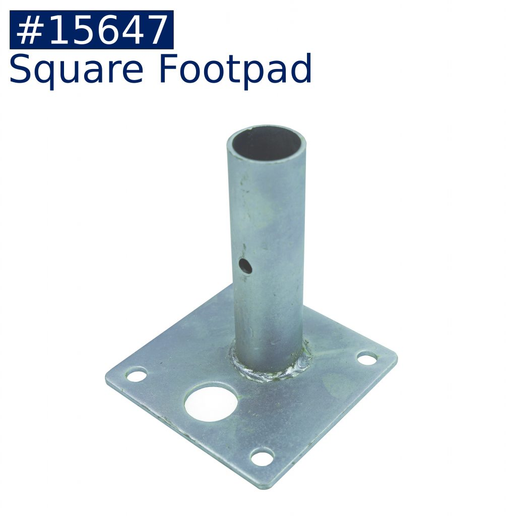 tent frame square foot pad fitting