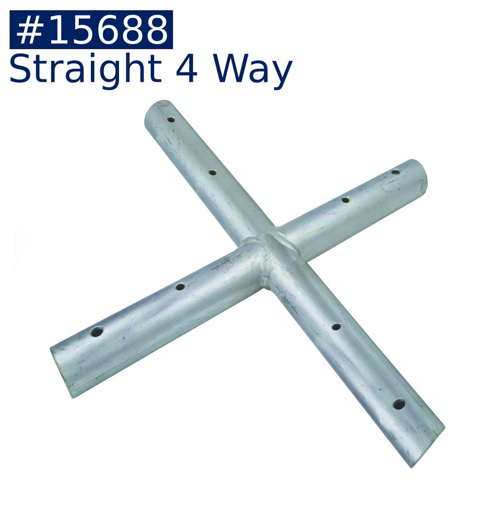 tent frame straight 4 way fitting