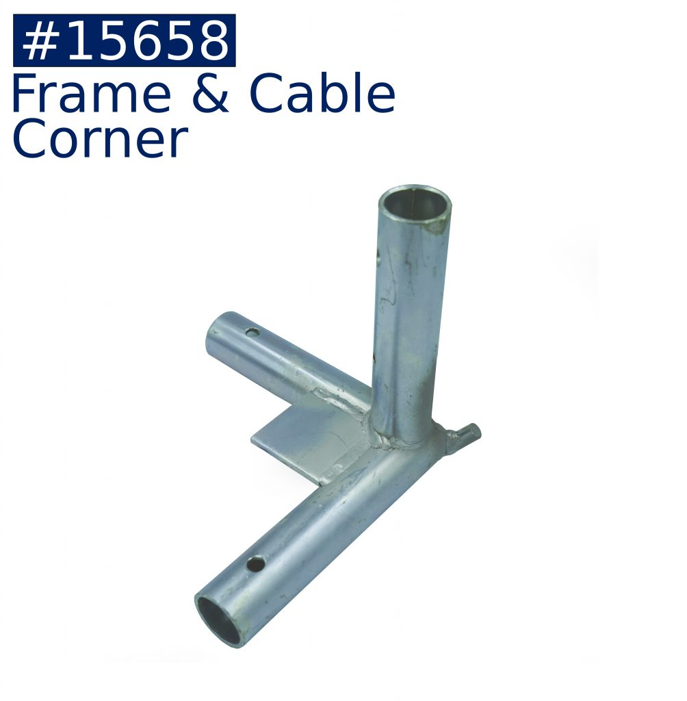 tent frame frame & cable corner fitting