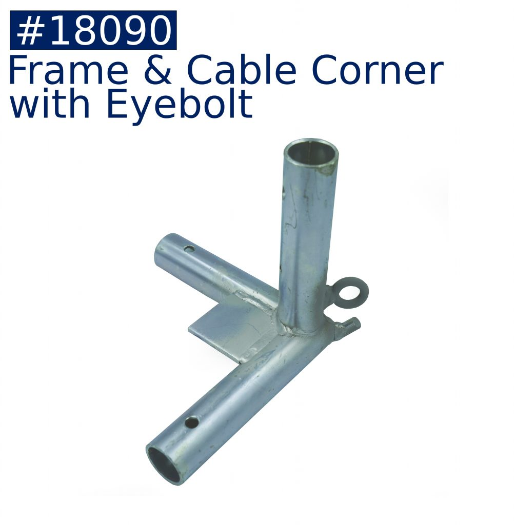 tent frame frame & cable corner with eyebolt fitting