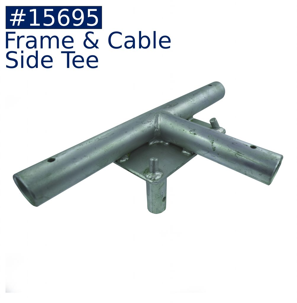 tent frame frame & cable side tee fitting