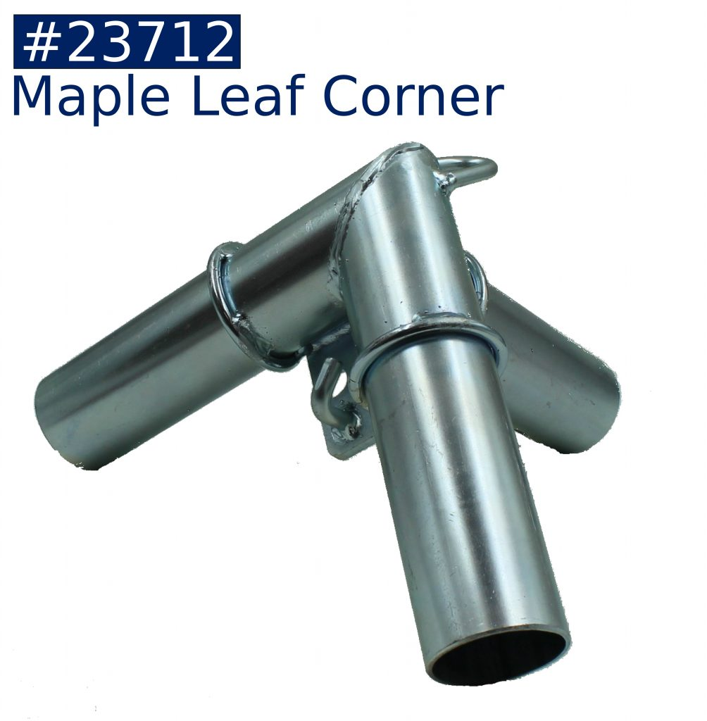 tent frame maple leaf corner fitting
