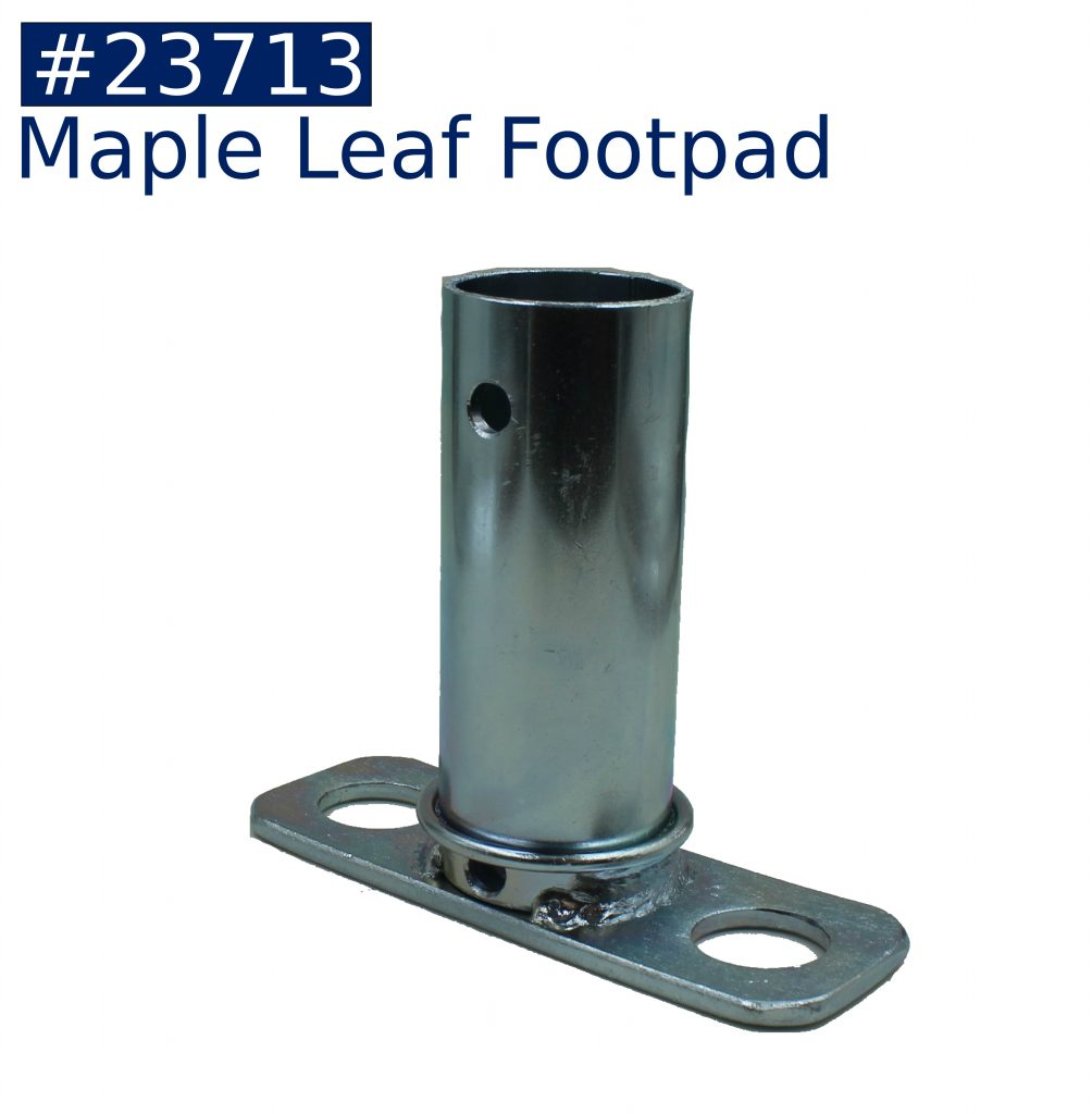 tent frame maple leaf footpad fitting