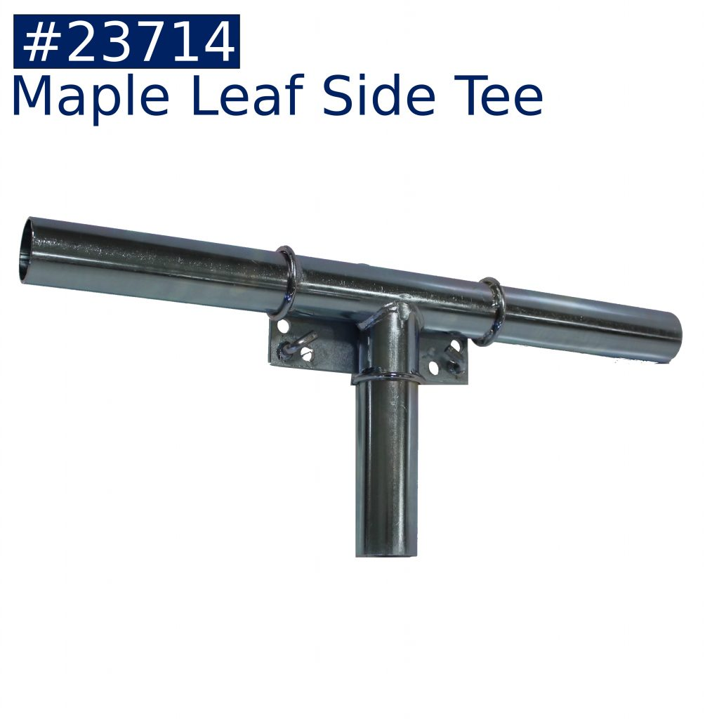 tent frame maple leaf side tee fitting